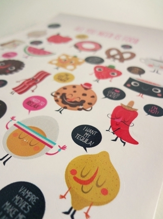 food - stickers - foodillustration - federicobonifacini | ello