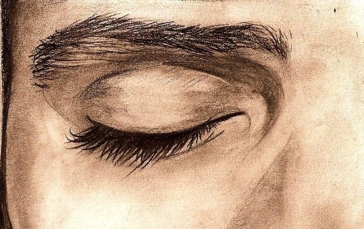 illustration, graphite, realistic - amandaloyolla | ello