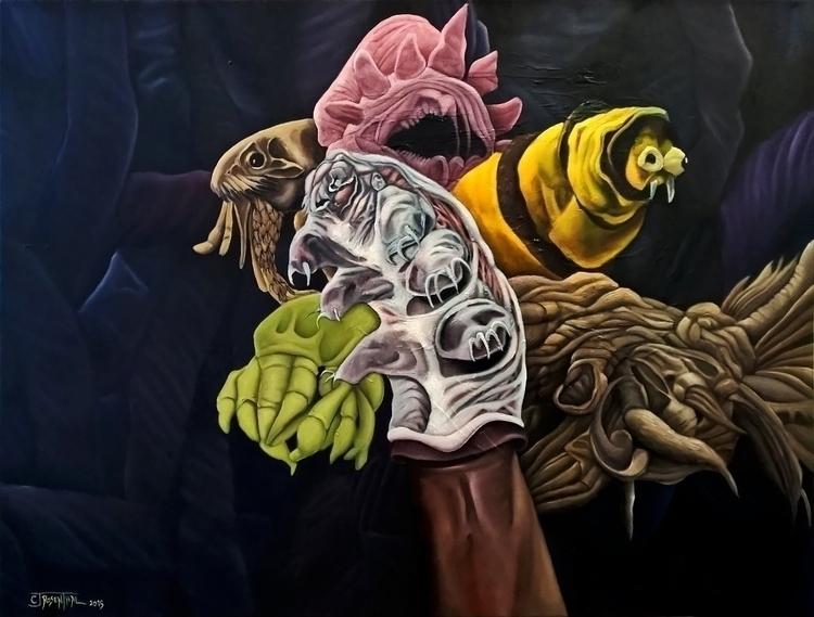 Bugs - painting - cjrosenthal | ello