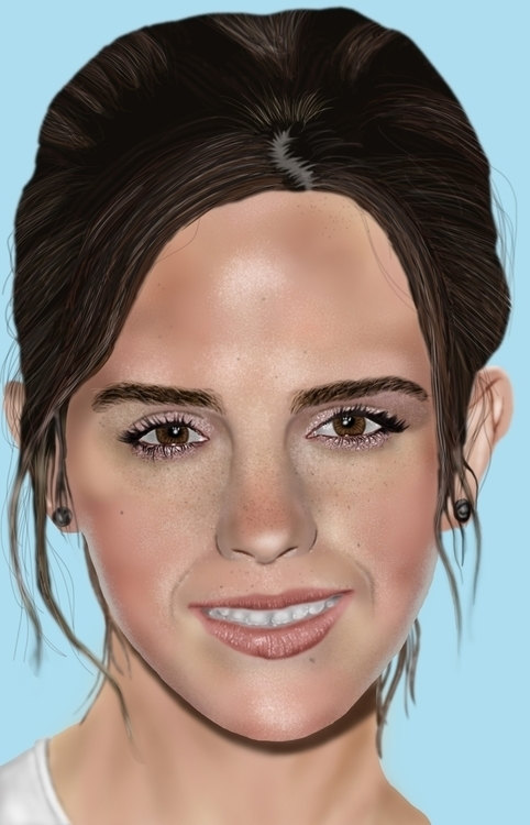 digital painting lovely Emma Wa - jasonfella | ello
