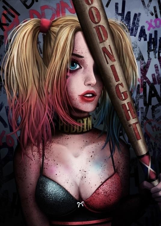 Harley Quinn fanart - harleyquinn - alexandratirado | ello