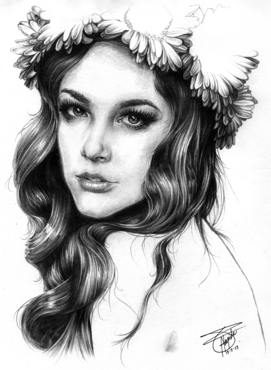FLORA - illustration, portrait, portraiture - neilbrian | ello