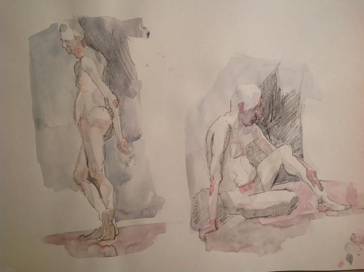 wee watercolour studies - lifedrawing - paperbag-3414 | ello