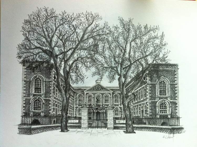 Bluecoat, Liverpool - sketch, architecture - artla | ello