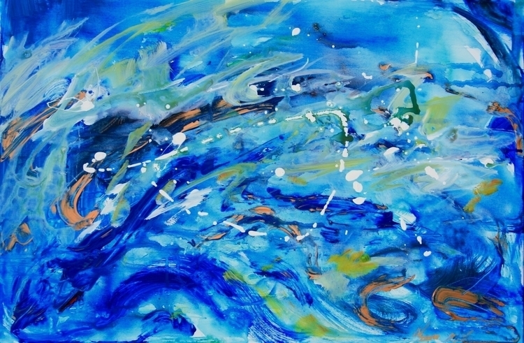 Big Wave Acrylic Canvas - wave, painting - alyssakubitz | ello