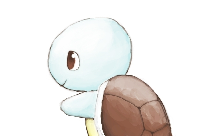 Squirtle - illustration, painting - rayssamc | ello