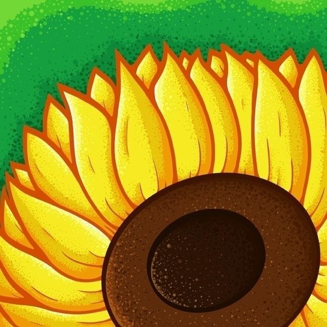 flower brighten day - sunflower - jellysoupstudios | ello