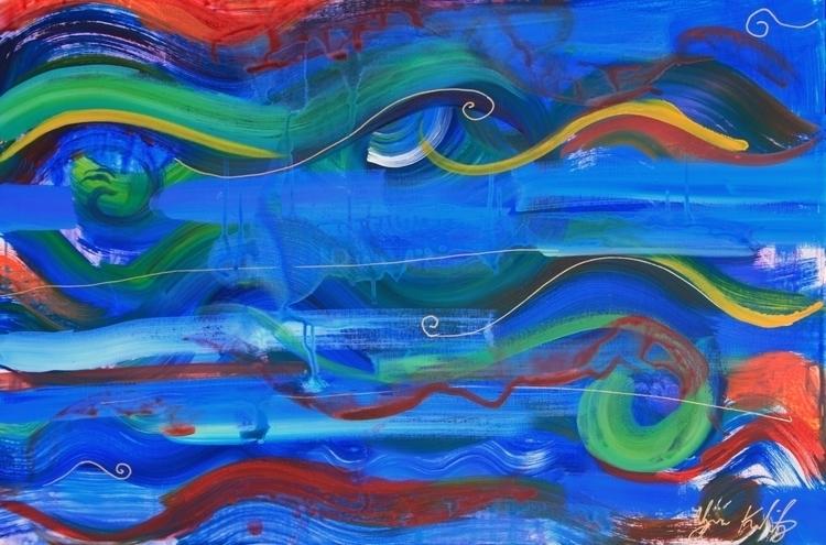Pool Waves Acrylic Canvas - pool - alyssakubitz   ello