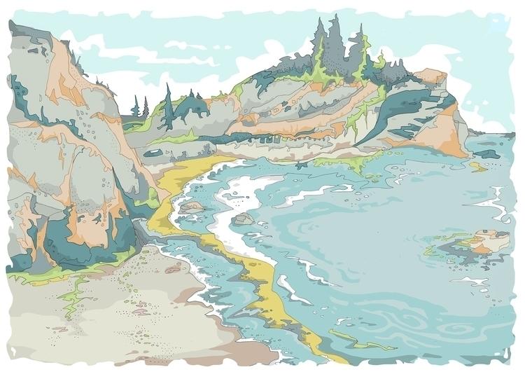 Seaside - illustration, drawing - malgrodzka | ello