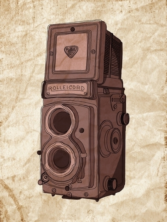 rolleicord - illustration, illustrator - naya-1174 | ello