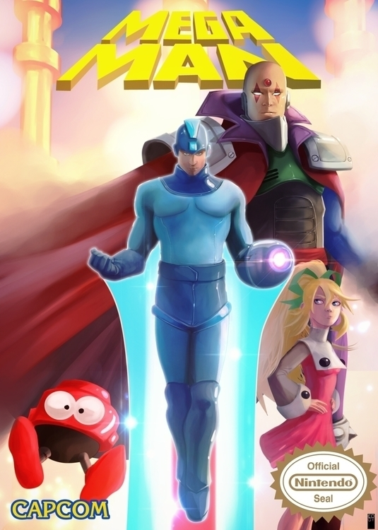 Nintendo challenge Megaman - illustration - edgy-8315 | ello