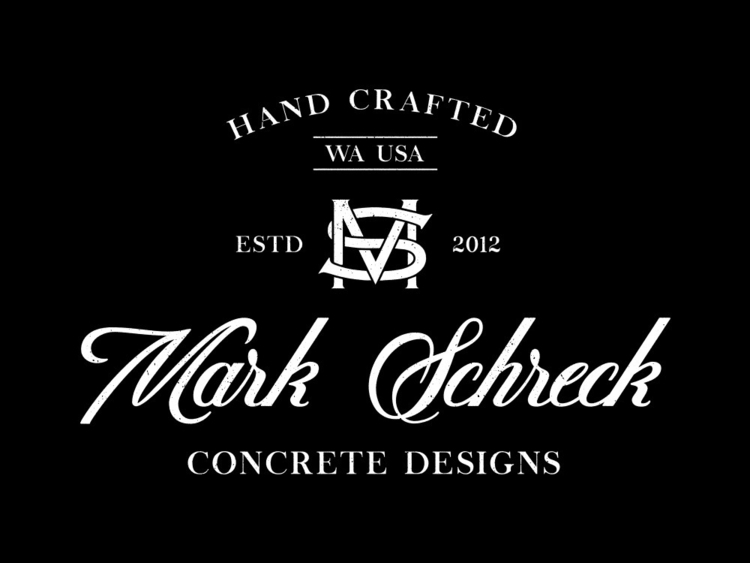 Mark Schreck Concrete Designs - branding - lettershoppe | ello