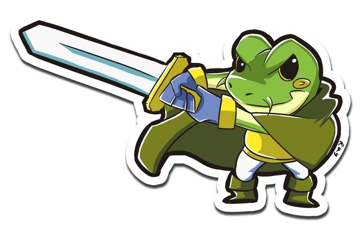 Frog - illustration, sticker - rayssamc | ello