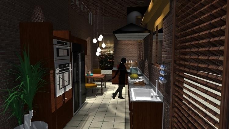 KITCHEN - interiordesign, 3dinteriordesign - suraiyashahid | ello