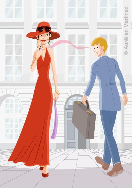 Fashion illustration, november  - aurelienmartinez | ello