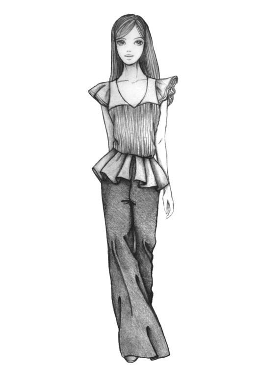 Fashion sketch 2 - illustration - naya-1174 | ello