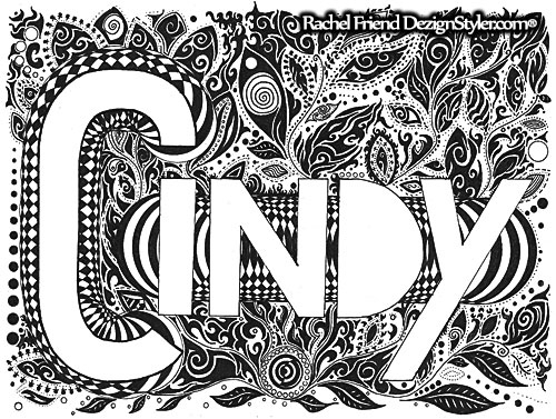 Cindy - cynthia, cindy, letters - dezignstyler | ello