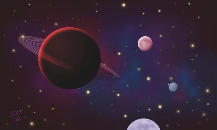 Red Nebula - corelpaintshoppro, 2dillustration - ralphcobbs | ello