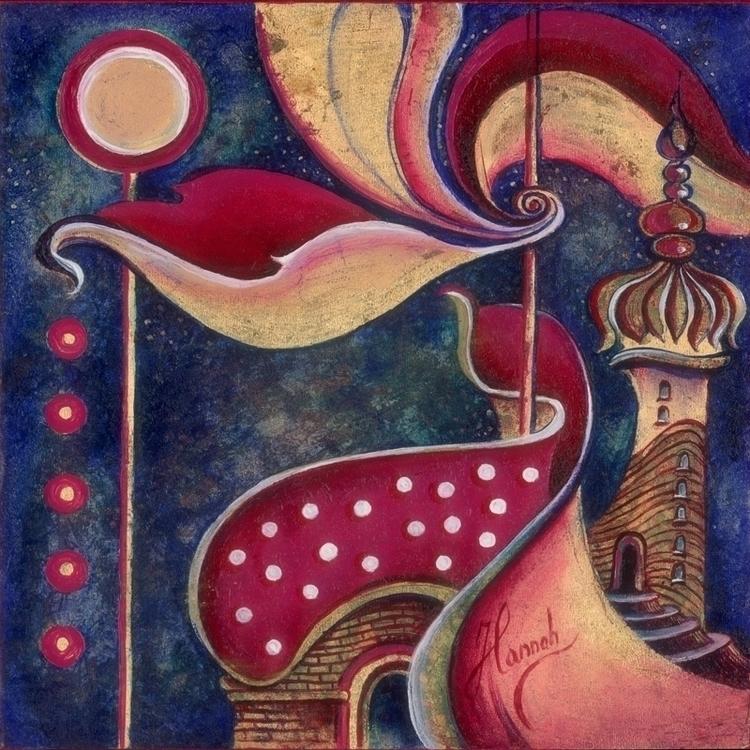 Night City Gods- original oil p - annahannahart | ello