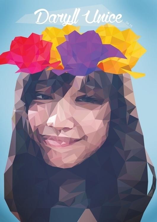Polygonal Portrait - vector, vectorart - daryllunice | ello