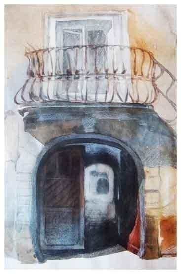 Lviv 30x21 cm watercolor paper - maryna-6139 | ello