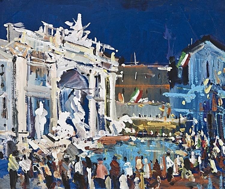 Trevi Fountain (Italy / Rome),  - antonbogatov | ello