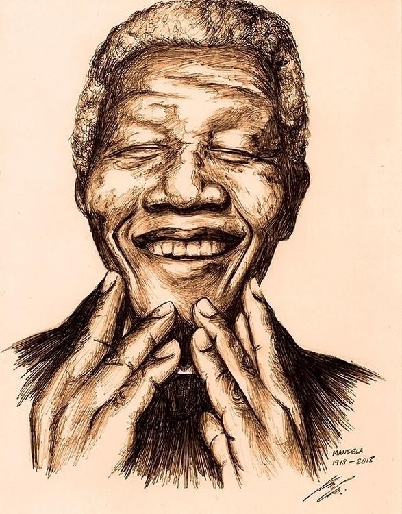Nelson Mandela 1918-2013 - illustration - theartofsichiu | ello