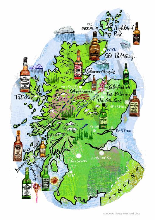 Map Scotland - maps, illustration - nowen-1067 | ello
