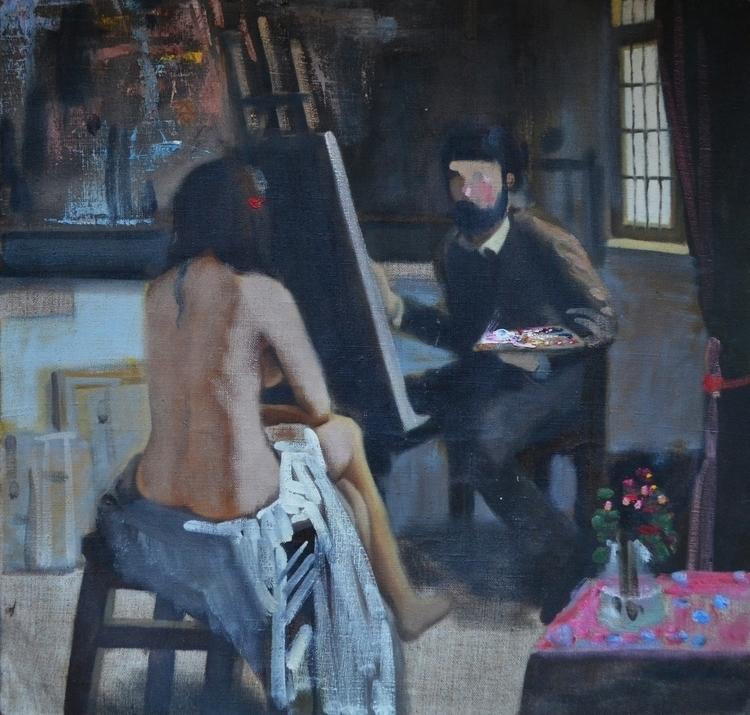 Studio 60x60 cm Oil canvas - painting - maryna-6139 | ello