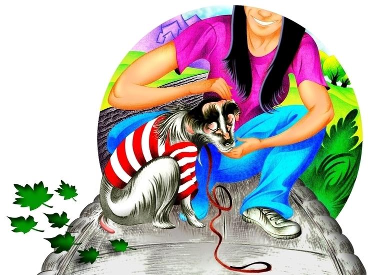 Colored pencil illustration/dig - journeymandesigns | ello