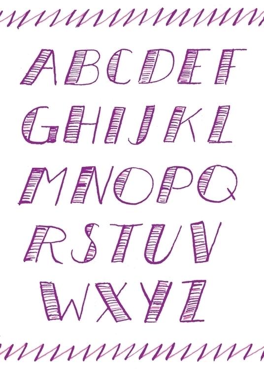 Pointed Pen Alphabet // Handlet - missjenbeck | ello