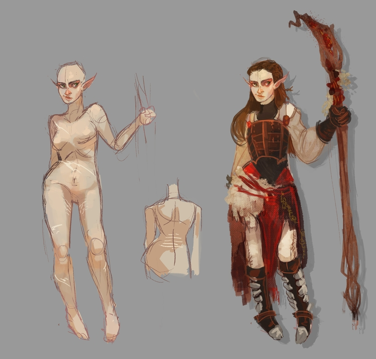 characterdesign, conceptdesign - dustyleaves | ello