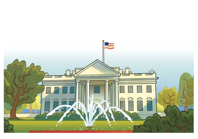 building, whitehouse, children'sillustration - christiansuarez | ello