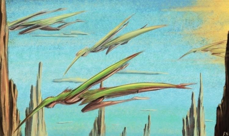 Flying Tribe Janaris - digitalpainting - jl_illustration   ello