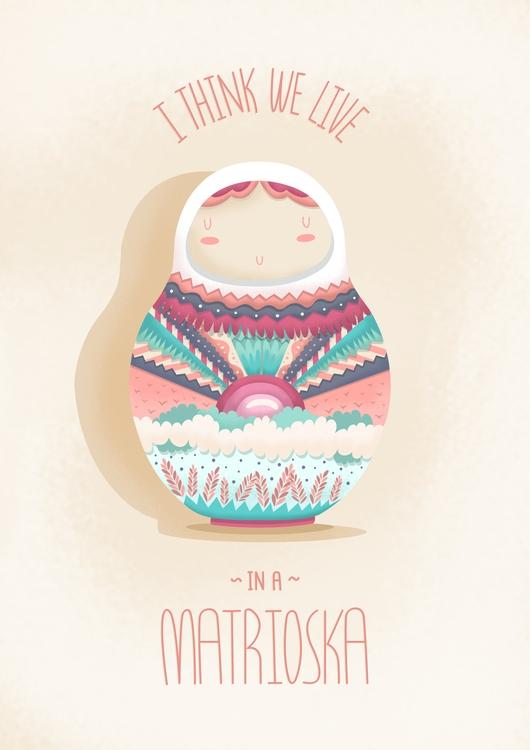 live matrioska  - illustration, lovely - lucecitasroom | ello
