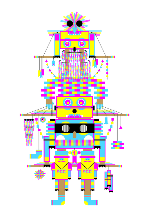 Totem13 - totem, cmyk, art, illustration - pabloshock | ello
