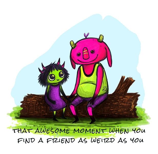 Weird - weird, comic, friends, friendship - patoodle-1214 | ello