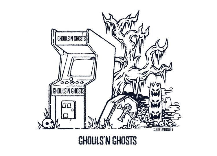 illustration, fanart, ghouls - colinbrown-7810 | ello