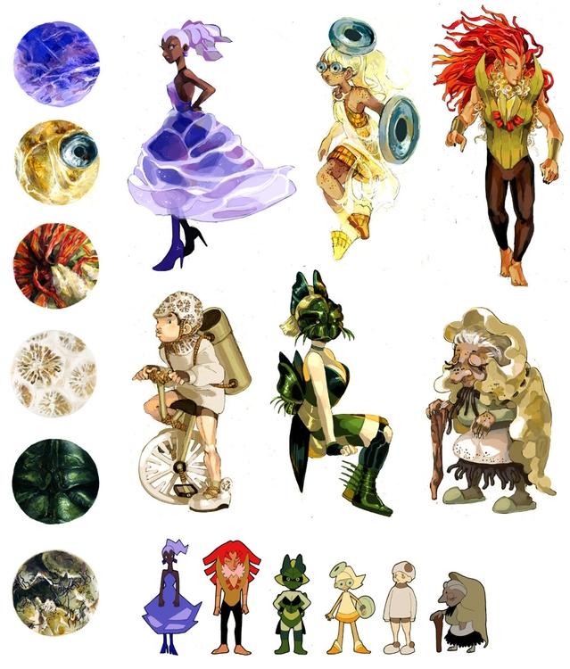Microscopy characters - characterdesign - pom-1507 | ello