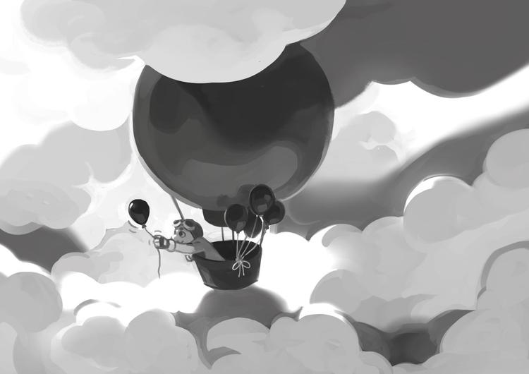 Optimism - balloon - pom-1507 | ello