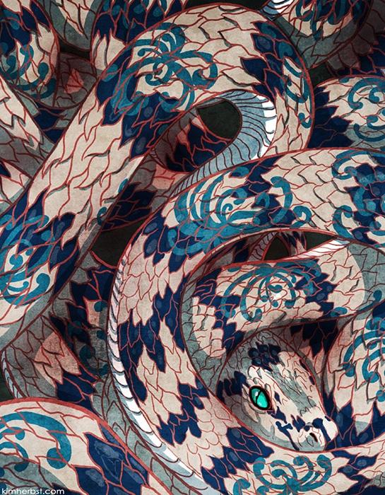 Year Snake - Chinese Lunar - snake - kiwifruitbird | ello