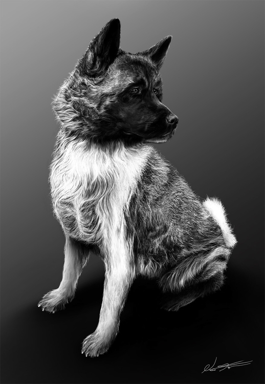 painting passed dog named Lea.  - nalfaren | ello