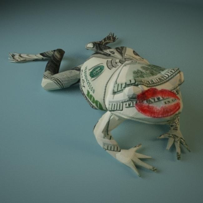 frogprince - illustration, 3d - deepflare | ello
