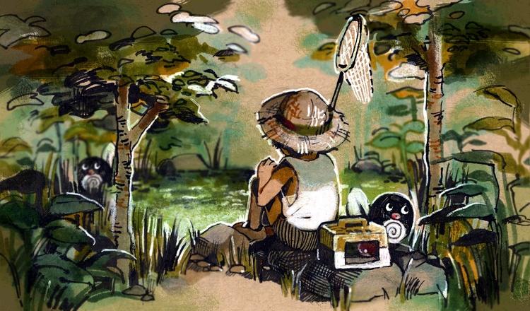 Satoshi Tajiri - pokemon, poliwag - pom-1507 | ello