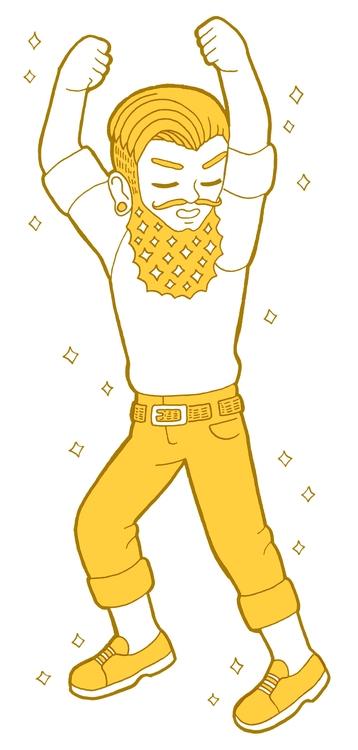 Hipster Male Radio Boise - illustration - laurentesch | ello