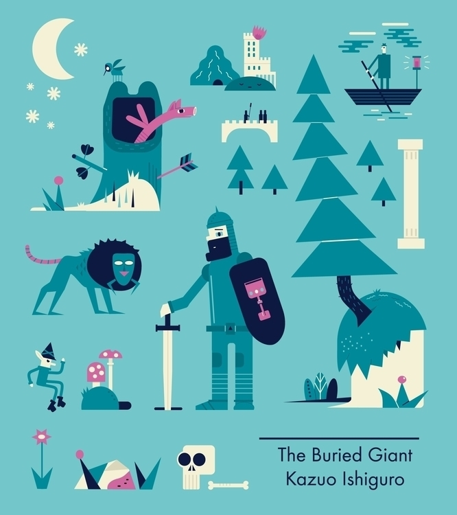 buried giant Kazuo Ishiguro - illustration - schnuppe | ello