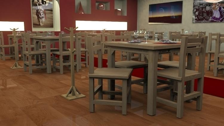 Modelado 3D para mesa restauran - abrahamvillanueva | ello