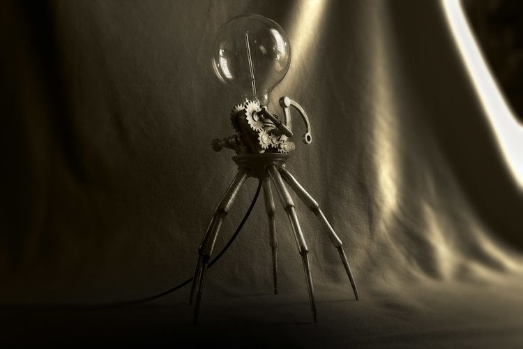 Steampunk03, height = 44cm - 3Dprint - fryk | ello
