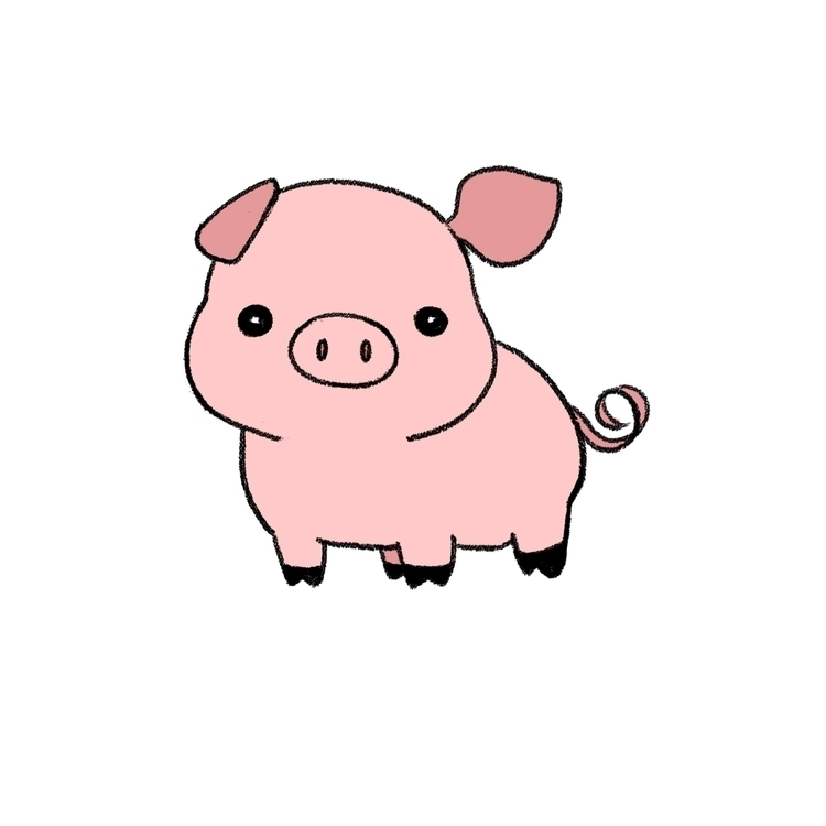 Pig - illustration, characterdesign - eunice-3818 | ello