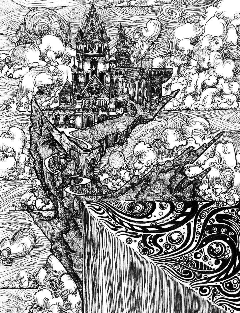 Corner - illustration, penandink - wyldtrees | ello